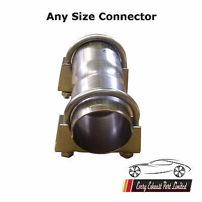 Exhaust Connector Sleeve Joiner Clamp on Any size Clamps Included Mild Steel
