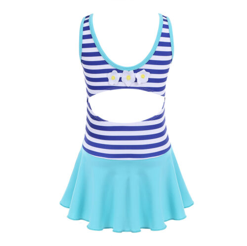 Kids Girls Flowers Bikini One Piece Swimwear Swimsuit Bathing Beachwear Dress