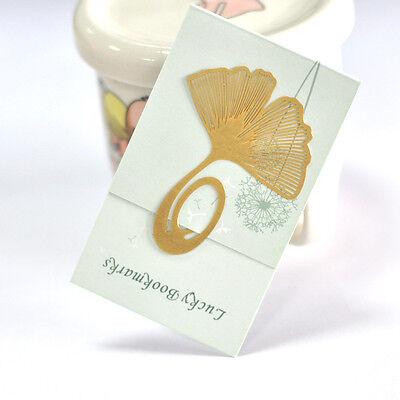 Reading Ginkgo Leaf Metal Clip Bookmark Gift Magazine Book Mark Elegant