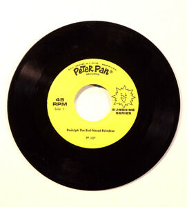 Rudolph-The-Rednose-Reindeer-45-RPM-Single-Peter-Pan-Records