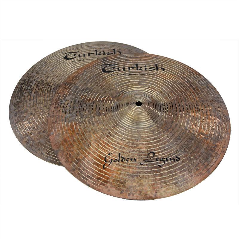 TURKISH CYMBALS cymbale Golden Legend 14  HiHat Hi-Hat 1153 1275g