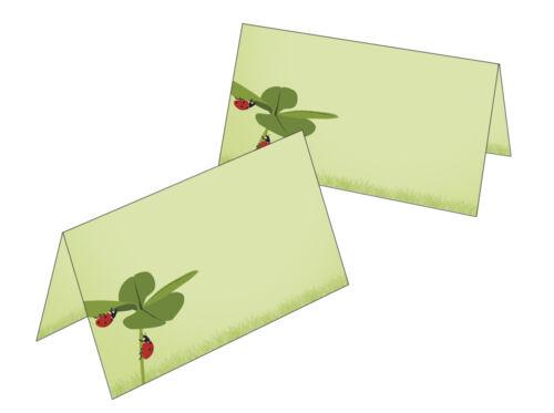 25 table cartes trèfle Coccinelle Noms Carte Cadeau pendentif anniversaire mariage