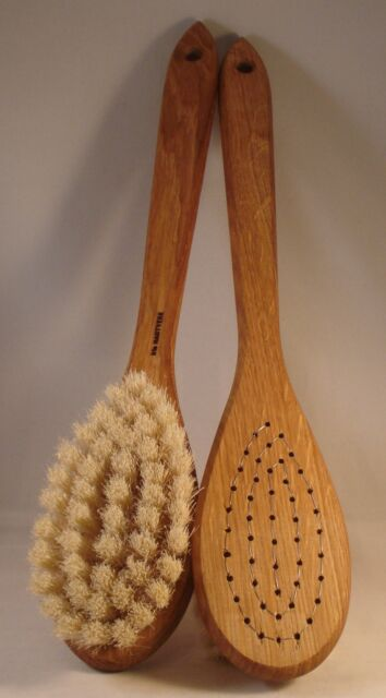 Wooden Handled, Hand Made, Natural Bristled Bath, Shower & Body Brushes 12 types