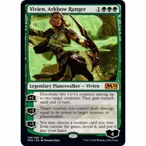 1x Vivien Arkbow Ranger Near Mint Magic planeswalker cube Core Set 2020 M20