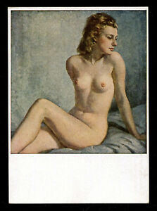 1944 Germany Picture Postcard German 3rd Reich Art Nude Blonde Lady Racy Sexy