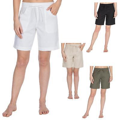 Damen Leinen Blend Shorts Sommer Urlaub Shorts | eBay