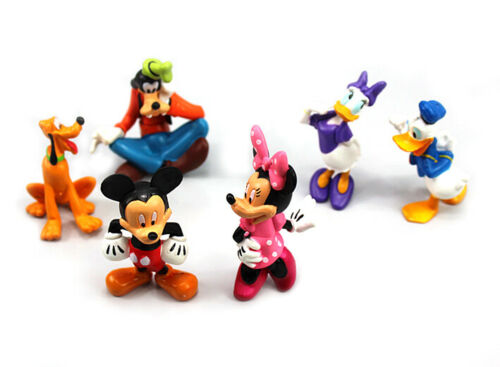6pcs Mickey Mouse Baby Kids Toy Donald Duck Action Figures Model Topper Xmas