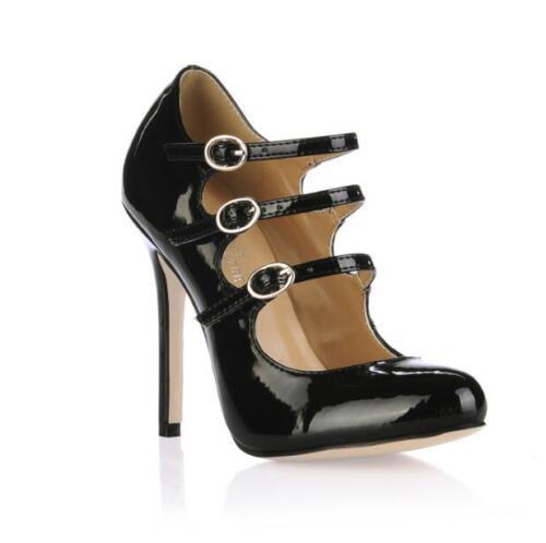 in alla da con con alla Scarpe Lolita pelle donna cinturino caviglia caviglia cinturino W0IxR4zq