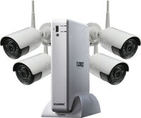 Lorex 4-Channel 4-Camera Outdoor Wireless 1080p 1TB DVR Surveillance System (White)