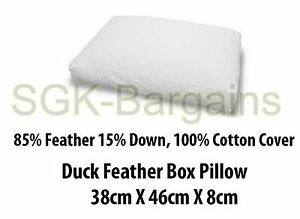 Luxury 85% Duck Feather BOX Pillow 15% Duck Down Filling High Quality Pillows