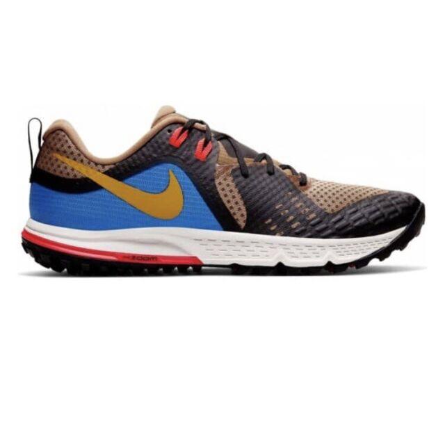 Nike Air Zoom Wildhorse 5 Trail Running Shoes Mens Size 9 Tan Black AQ2222-200
