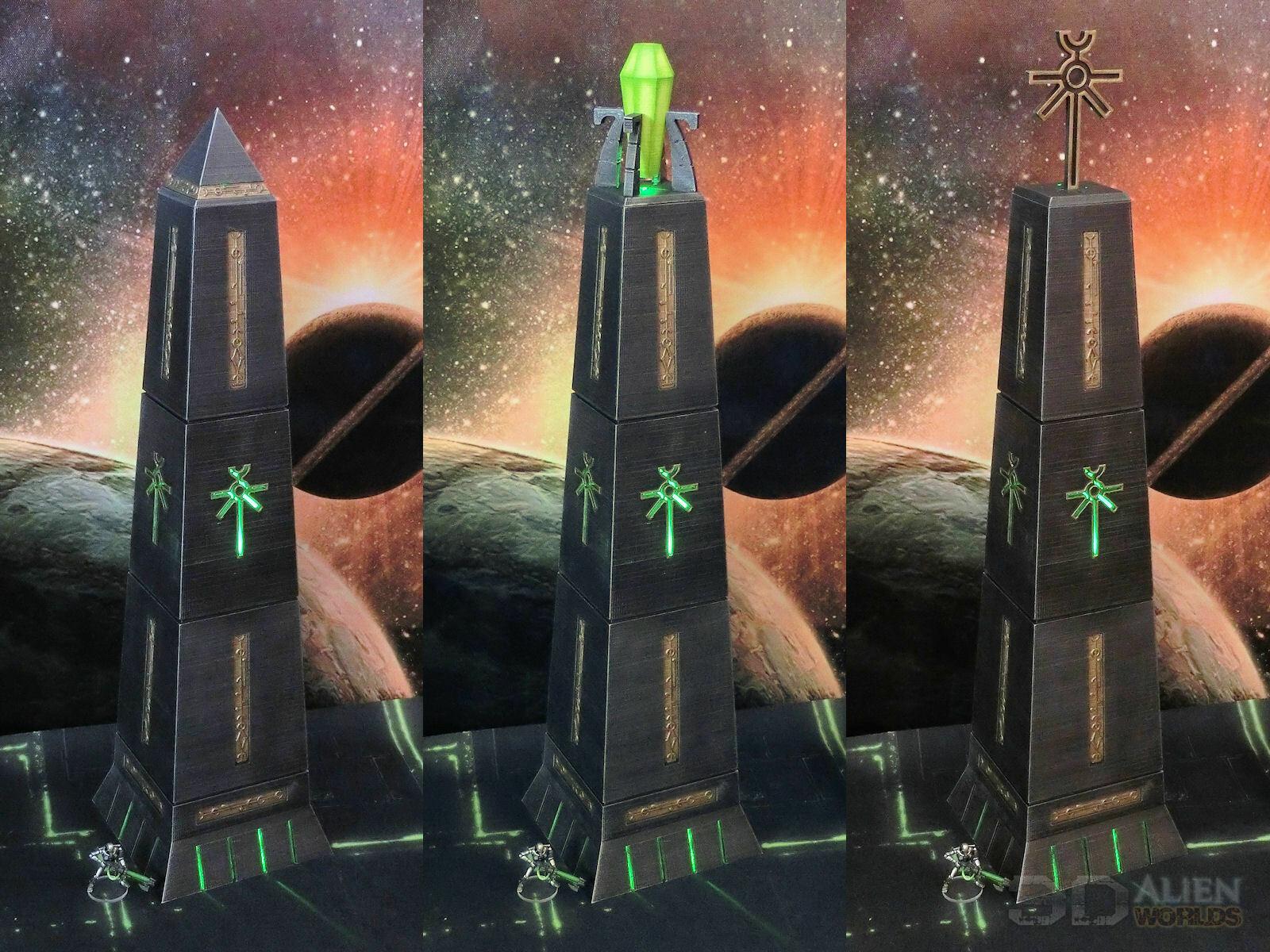 CC3D - Runic Pylons - Wargames Miniatures Scenery    40k 28mm 15mm a96
