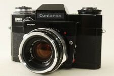 RARE! Contarex Zeiss Ikon S Super Black Last Version w/Planar 50mm f/2 EXC+++