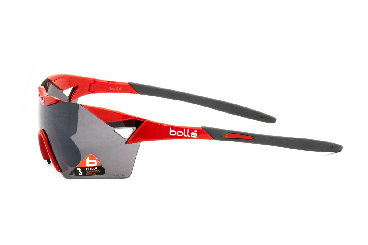 Bolle Sunglasses 6th Sense S Cycling Red Grey TNS Gun 11914 - Authorized Dealer