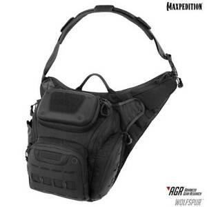 Maxpedition-WLFBLK-Wolfspur-Crossbody-Shoulder-Bag-11L-Black