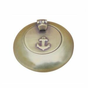 Sea-Club-Taschen-Aschenbecher-klappbar-Messing-Antik-6cm-neu