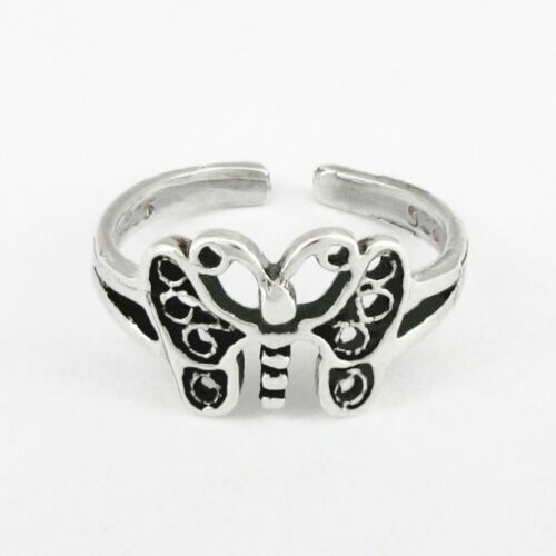 BUTTERFLY Toe Ring in SOLID 925 Sterling Silver; NEW USA Seller!