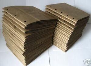25bk 8x8 SEWN  BROWN paper bag scrapbook album//piecing