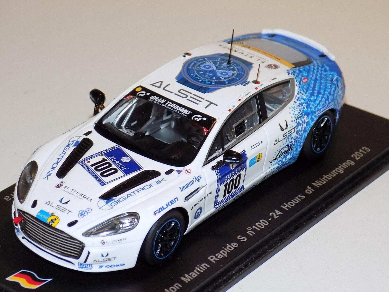 1 43 Spark Aston Martin Rapide S Voiture  100 24 H du Nurburgring 2013 SG098