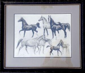 George-Ford-Morris-1938-Signed-Personal-Estate-Horse-Art-Drawing-Original-COA
