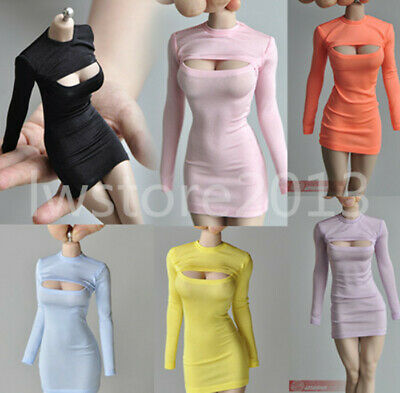 1//6 Tight Chest T-shirt Hip Dress Skirt Costume Clothes Fit Female PH 12/'/' Body