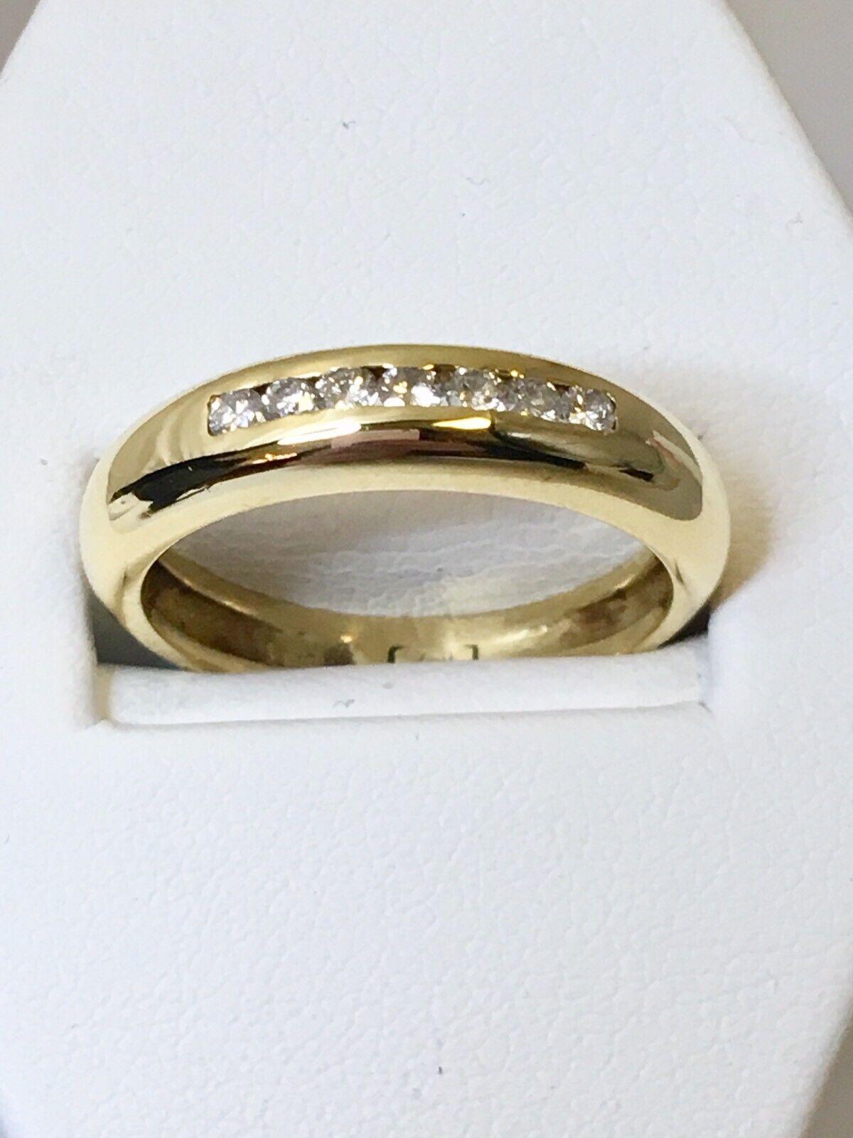01180c9838b50 18ct Yellow N Size 0.20ct Ring Wedding Eternity Diamond Chunky gold ...