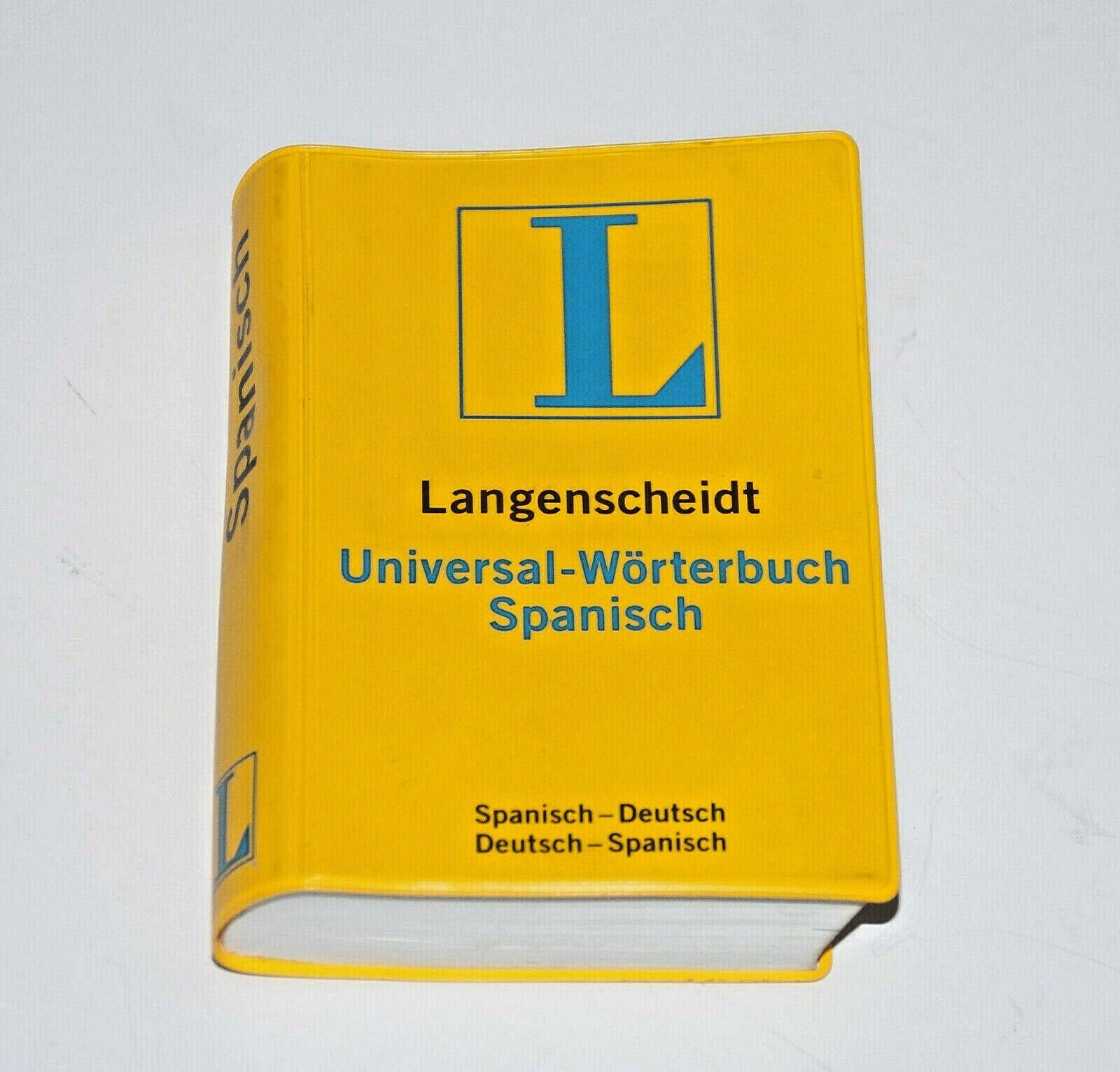 Langenscheidt Universal Worterbuch Deutsch Spanisch Und Umgekehrt Ebay