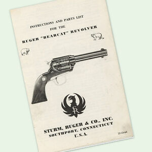 ruger bearcat revolver instructions parts owners manual diagrams rh ebay com Ruger New Bearcat ruger bearcat instructions