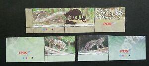SJ-Endangered-Big-Cats-Malaysia-2013-Tiger-Leopard-Wildlife-stamp-logo-MNH
