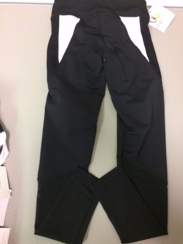 ilo gear Cayla Leggings With Mesh Black//Black//White Sizes Child M Adult XS-M