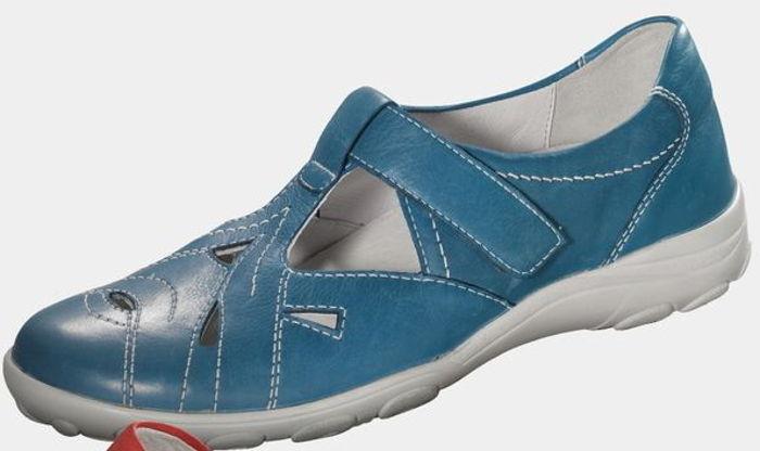 Klettflats blau Gr.4,5 azur SEMLER Sandalen  Einlagen Luftpolstersohle azur Gr.4,5 b04056