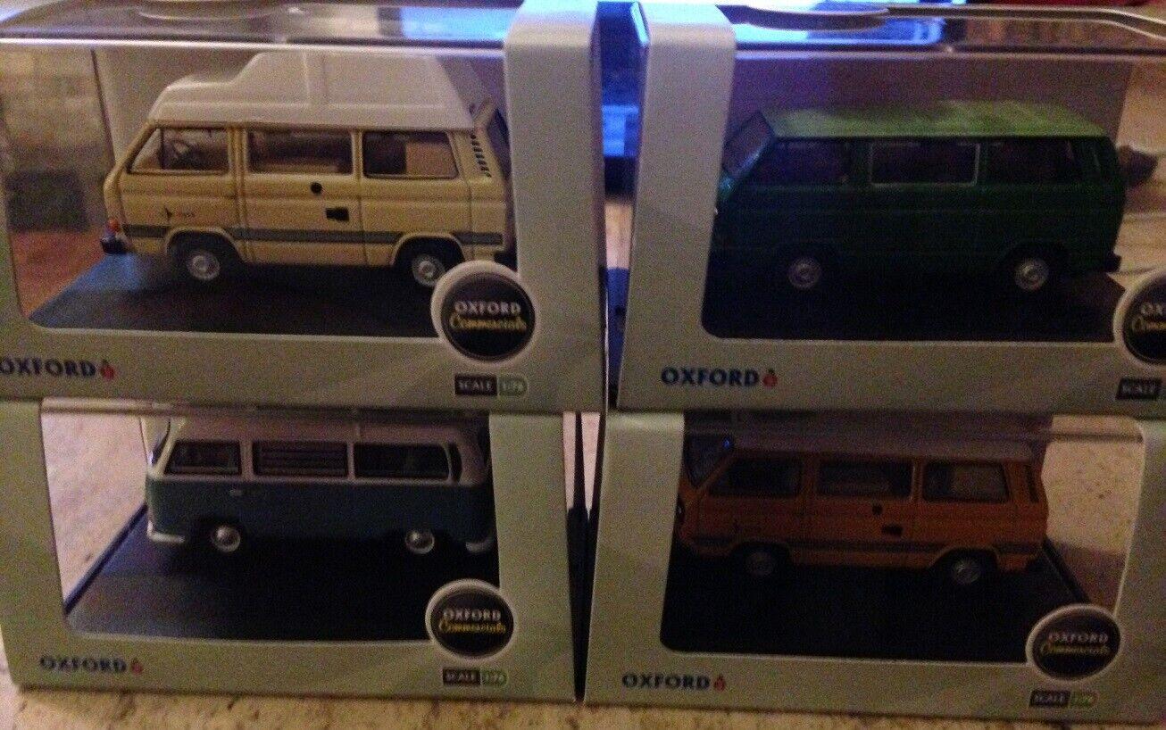 Oxford VW Van BUNDLE JOB LOT. 4 x VW Vans. 1 76 Scale. FREE UK POSTAGE.