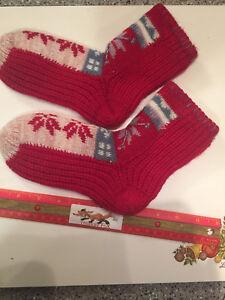 Knitted-crochet-socks-handmade