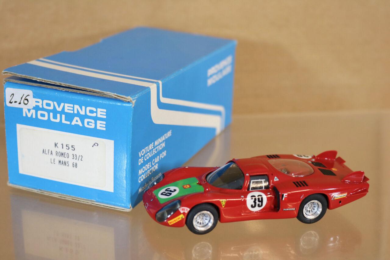 Provenza Moulage K155 Le Mans 1968 Alfa Romeo 33 2 I. Giunti N. Galli 4 Nj