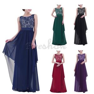 Women-Elegant-Long-Dress-Evening-Gown-Ball-Party-Bridesmaid-Formal-Prom-Cocktail