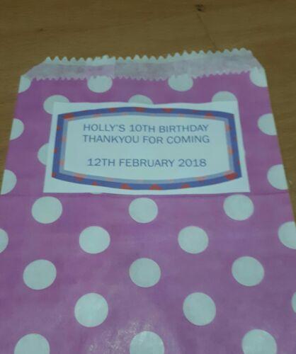 30 Bolsas Personalizadas cariño Cumpleaños Baby Shower Bautizo Sagrada Comunión Gallina