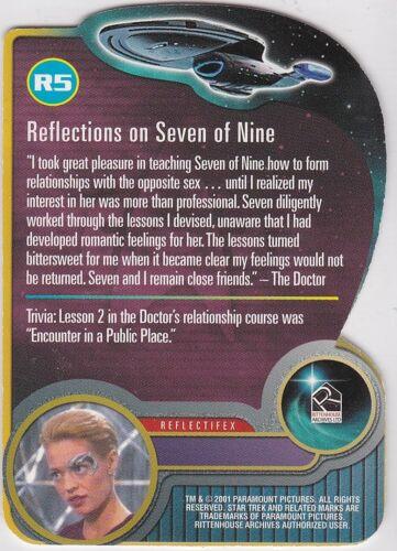 STAR TREK 2001 WOMEN OF VOYAGER HOLOFEX RELECTIFEX INSERT CARD R5 JERI RYAN 7OF9