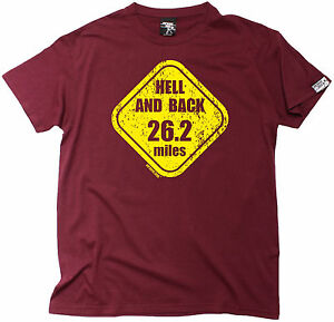 Details About Hell And Back 262 Miles MENS T SHIRT Training Birthday Running Runner Gift