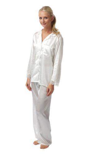 Ladies Long Sleeve Satin//Charmeuse Pyjamas Plum//Purple Size 10-28