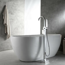 Bathroom Freestanding Bath Tub Filler Floor Bathtub Faucet with Hand Shower
