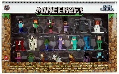 Jada Toys Minecraft 20-Pack Wave 1 Die-cast Figure 1.65 Inch Scale Collectible Figurine 100/% Metal 30125