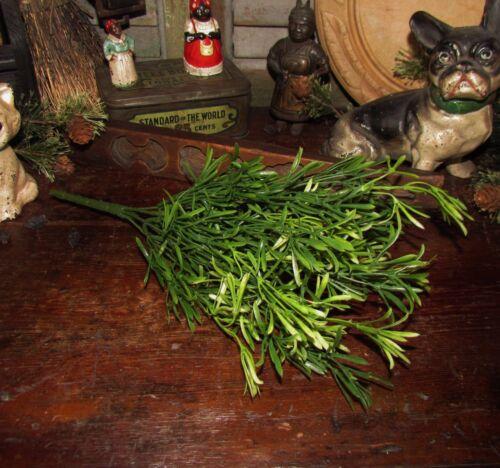 """Primitive 13/"""" Green Floral Asparagus Bush Artificial Plants Fake Foliage Pick"""