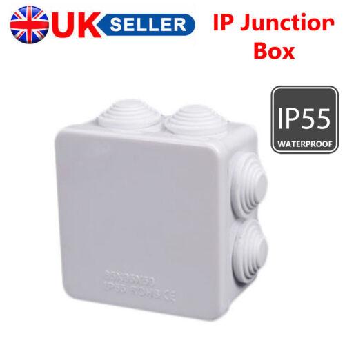 IP Boîte De Jonction Terminal Weatherproof IP55 Noir//Blanc Pour Intérieur Extérieur CCTV