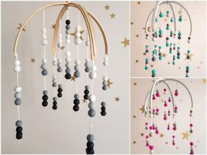Image Is Loading Double Arch Baby Mobile Wooden Beads Handmade