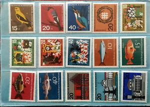 German-Deutsche-Bundepost-Fur-Die-Jugend-Stamps-x-15-1960-s
