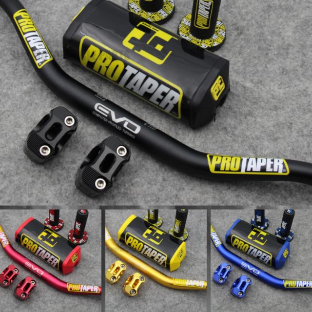 Pro Taper FAT BAR Evo Handlebars Dirt Bike Handle 1-1//8 ATV grips pad Motorcycle
