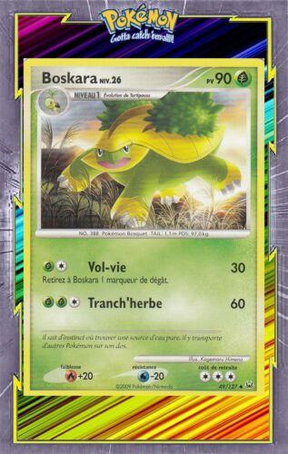 Carte Pokemon Neuve Française Boskara 49//127 Platine