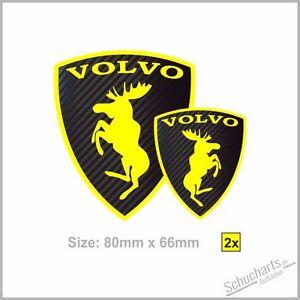 2x VOLVO Elch Moose CARBON -S-V40 V50 S60 S-V70 S80 S-V90 V60 XC60-70-90 C30 C70