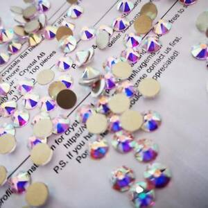 SWAROVSKI-Crystals-AB-non-hotfix-flat-back-rhinestones-for-nail-art-design-30pcs