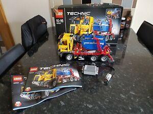 LEGO-TECHNIC-USATO-42024-container-camion-Set-che-comprende-funzioni-di-potenza